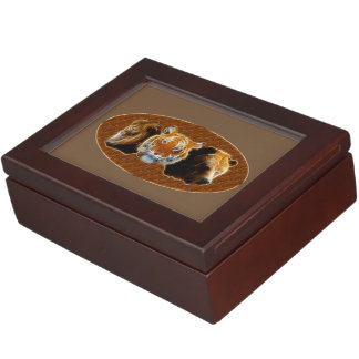 Lion And Tiger And Bear Keepsake Box