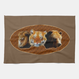 Lion And Tiger And Bear Kitchen Towel