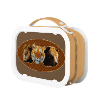 Lion And Tiger And Bear Lunch Boxes