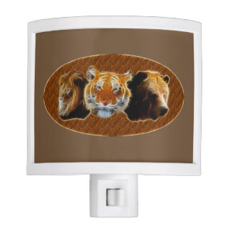 Lion And Tiger And Bear Nite Light
