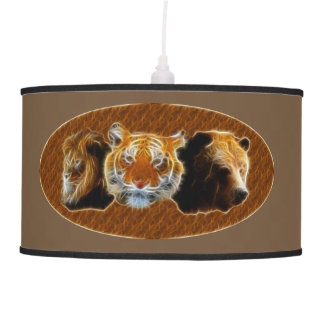 Lion And Tiger And Bear Pendant Lamp