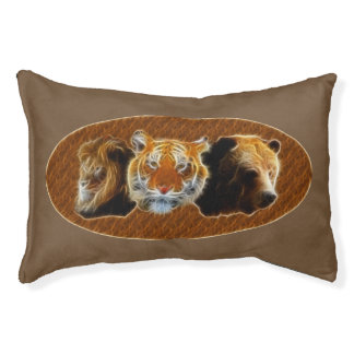 Lion And Tiger And Bear Pet Bed