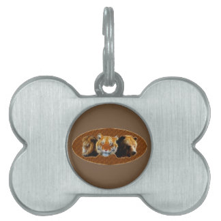 Lion And Tiger And Bear Pet Tag
