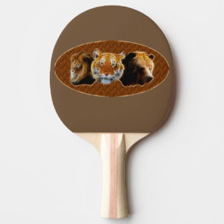 Lion And Tiger And Bear Ping Pong Paddle