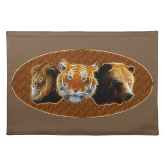 Lion And Tiger And Bear Placemat