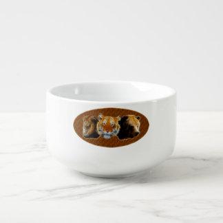 Lion And Tiger And Bear Soup Mug