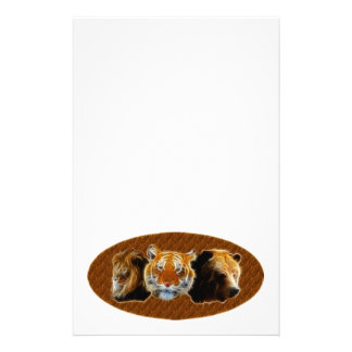 Lion And Tiger And Bear Stationery
