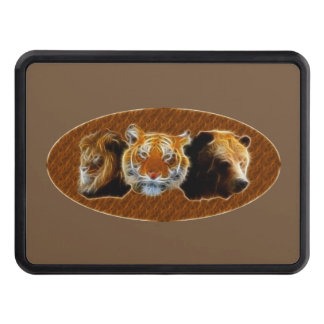 Lion And Tiger And Bear Trailer Hitch Cover