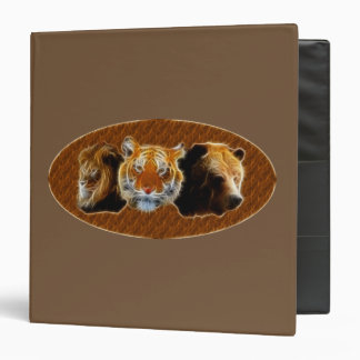Lion And Tiger And Bear Vinyl Binder