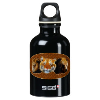 Lion And Tiger And Bear Water Bottle