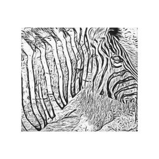 Lion and Zebra Canvas