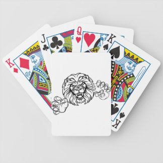 Lion Angry Esports Mascot Bicycle Playing Cards