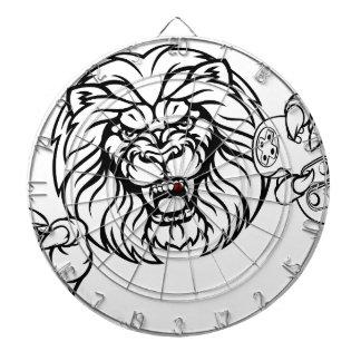 Lion Angry Esports Mascot Dartboard