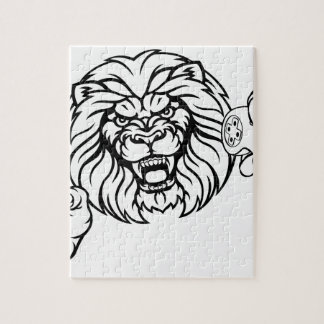 Lion Angry Esports Mascot Jigsaw Puzzle