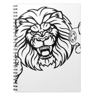 Lion Angry Esports Mascot Notebook