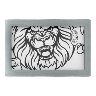 Lion Angry Esports Mascot Rectangular Belt Buckles