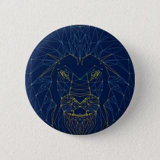 Lion. Animal contemporary triangles trendy design 2 Inch Round Button