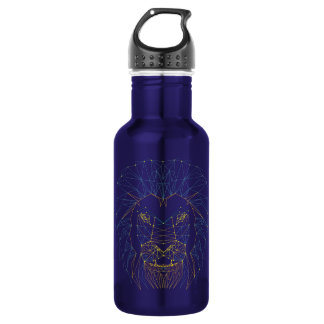 Lion. Animal contemporary triangles trendy design 532 Ml Water Bottle