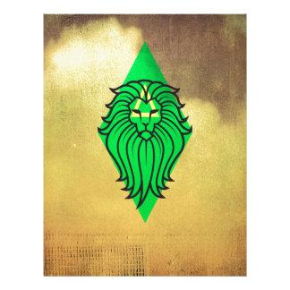 Lion Art Design Letterhead Template