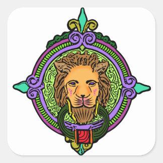 Lion Art exclusive Square Sticker