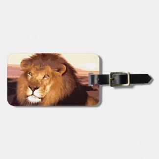 Lion Artwork Luggage Tag