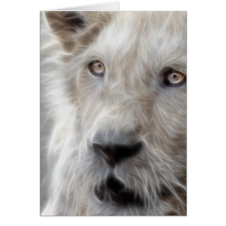 Lion as cat greeting card