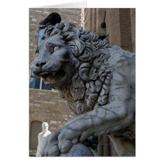 Lion at the Loggia Dei Lanzi Card
