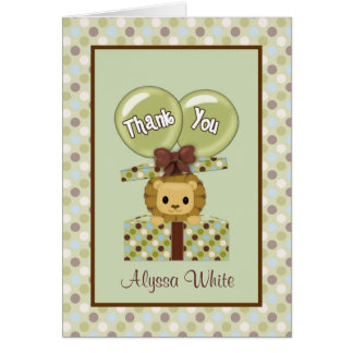 LION Baby Jungle Pals Thank You Note Card