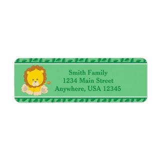 Lion | Baby Safari Animals | Personalized Return Address Label