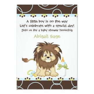 Lion Baby Shower Invitation for Boys