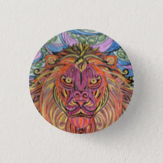 Lion badge. 1 inch round button
