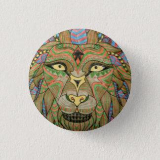 Lion badge 1 inch round button