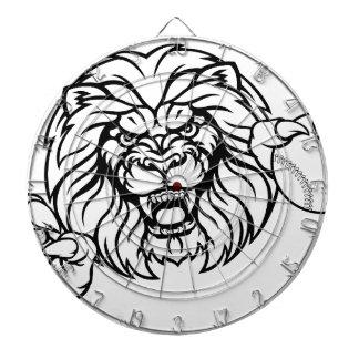 Lion Baseball Ball Sports Mascot Dartboard