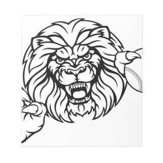 Lion Baseball Ball Sports Mascot Notepad