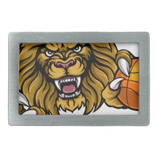 Lion Basketball Ball Sports Mascot Belt Buckle
