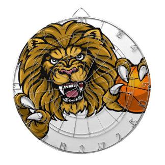 Lion Basketball Ball Sports Mascot Dartboard