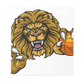 Lion Basketball Ball Sports Mascot Notepad