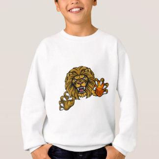 Lion Basketball Ball Sports Mascot Sweatshirt