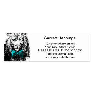 Lion beau avec la cravate d'arc carte de visite petit format