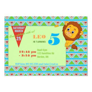 Lion Birthday Invitation