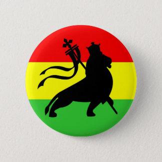 lion (black on RYG) 2 Inch Round Button