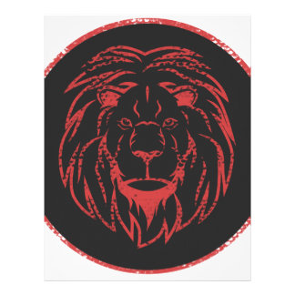 Lion Black&Red colors Letterhead