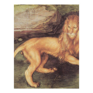 Lion by Albrecht Durer Personalized Letterhead