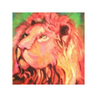 Lion canvas wrap.