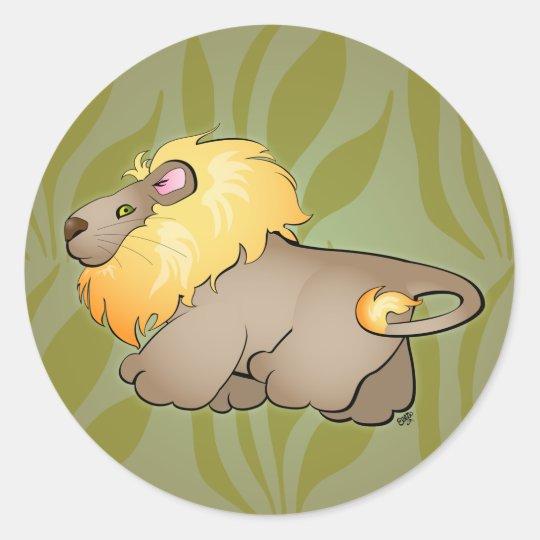 Lion Cartoon Sticker