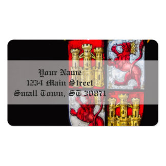 Lion Castle coat of arms red yellow Pack Of Standard Business Cards