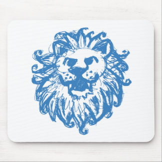 Lion Champ 2 Blue Mouse Pad