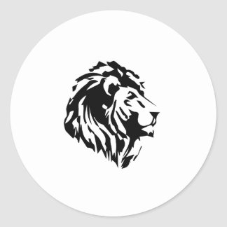 lion classic round sticker