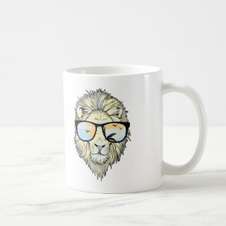 Lion Cool Hipster Coffee Mug