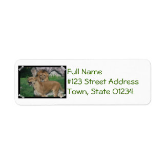 Lion Couple Return Address Label